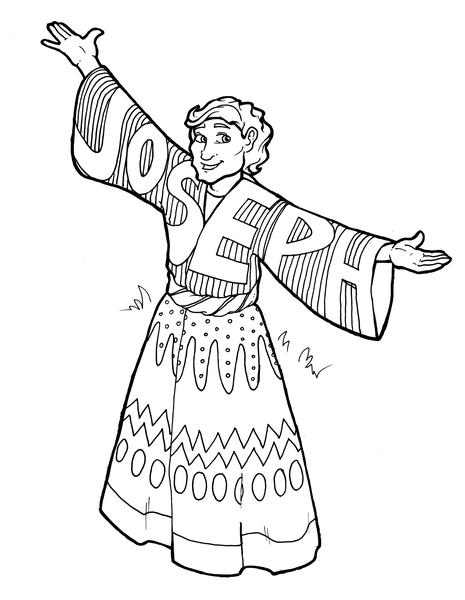 joseph coloring pages joseph and his coat coloring page coloring joseph pages