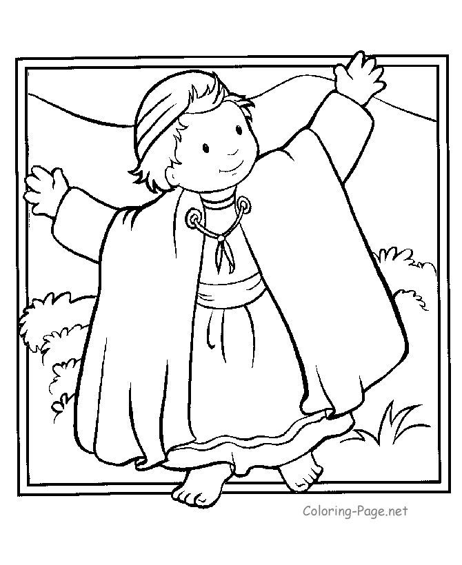 joseph coloring pages joseph and the coat of many colours bible story colouring joseph coloring pages