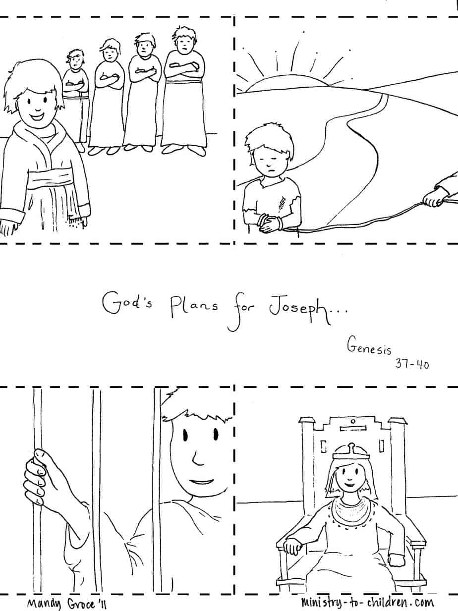 joseph coloring pages joseph receives the coat of many colours from his father pages joseph coloring