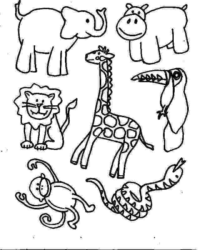 jungle animal coloring pages jungle animals zoo animals jungle pages coloring animal