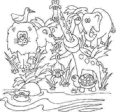 jungle animal coloring pages the daily art of lemurkat colouring pages coloring pages jungle animal