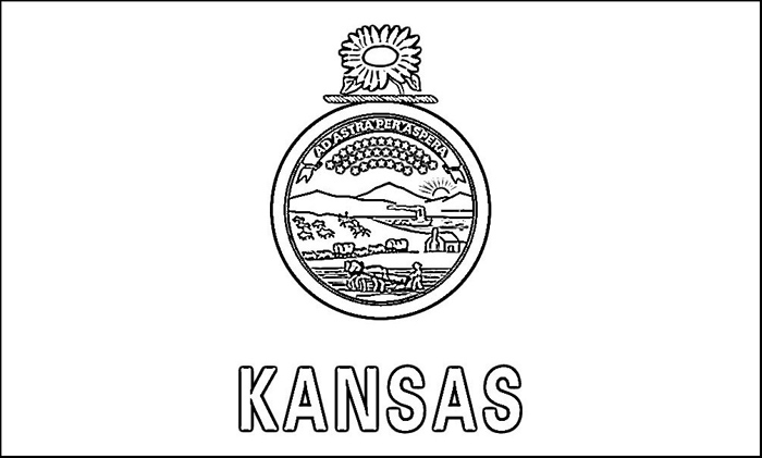 kansas flag coloring page flag of kansas coloring page free printable coloring pages page kansas flag coloring