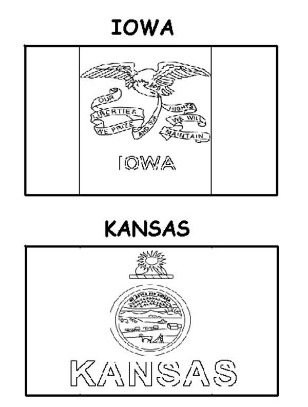 kansas flag coloring page state flags coloring pages purple kitty flag page coloring kansas