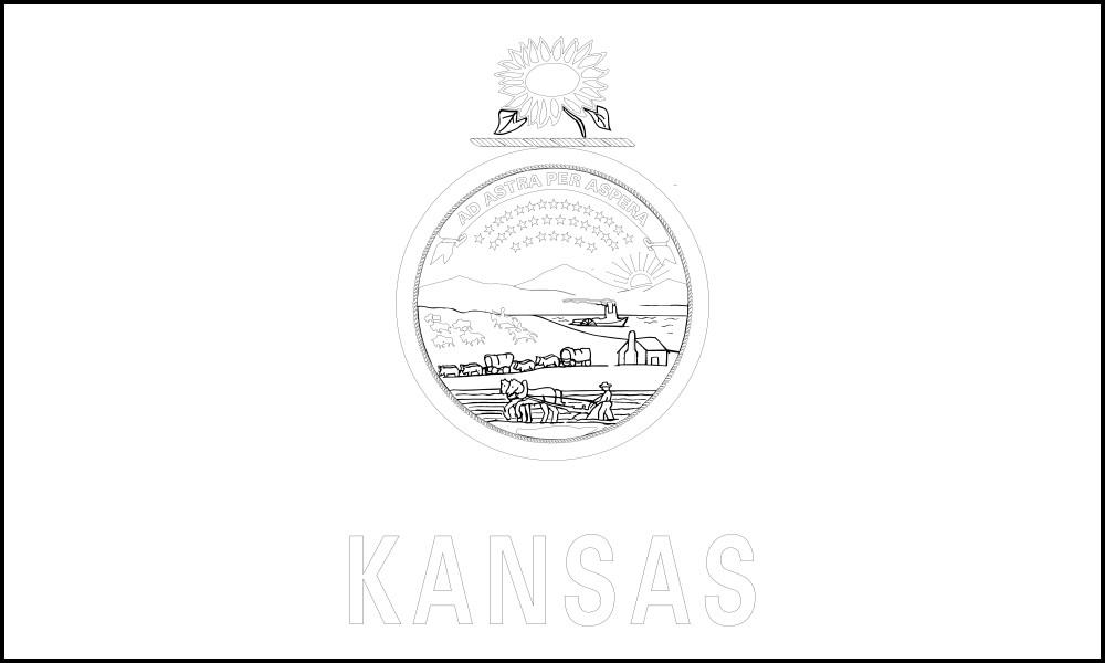 kansas flag coloring page usa printables kansas state flag state of kansas kansas page coloring flag