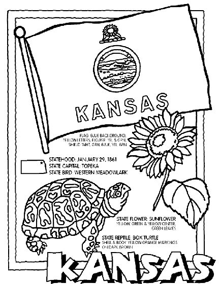 kansas state symbols coloring pages 251 best images about usa coloring pages on pinterest kansas pages coloring symbols state