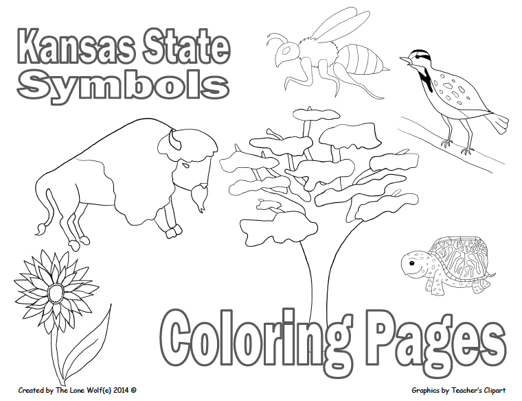 kansas state symbols coloring pages kansas state flag coloring page coloring kansas state symbols pages