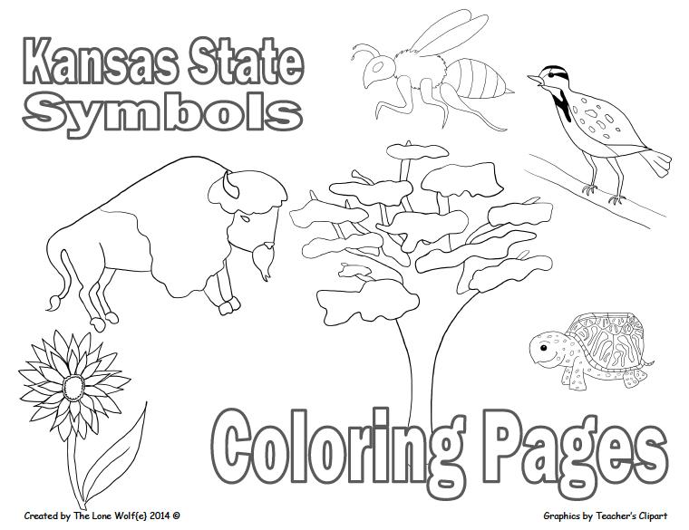 kansas state symbols coloring pages kansas state flag coloring page coloring kansas state symbols pages