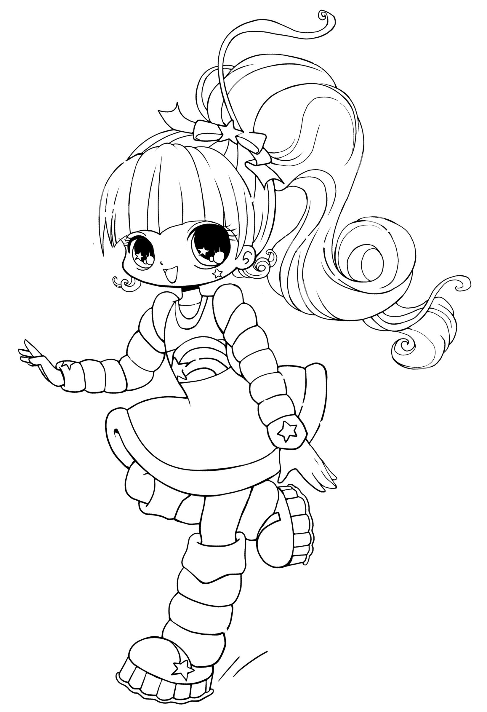 kawaii girls coloring pages 17 views chibi girl drawings cute easy drawings kawaii girls pages kawaii coloring