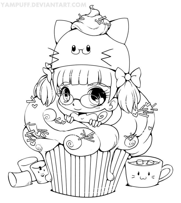 kawaii girls coloring pages kawaii food coloring pages at getcoloringscom free pages coloring girls kawaii