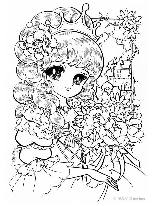 kawaii girls coloring pages princess bouquet coloring pages adult nurie kawaii kawaii girls coloring pages