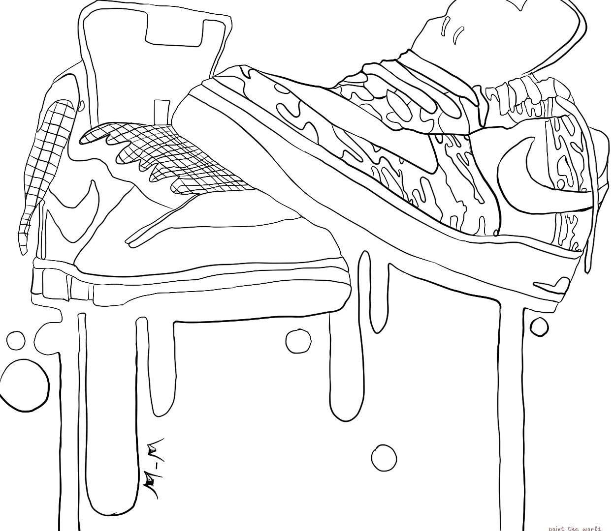 kd coloring pages kd shoes coloring pages at getcoloringscom free pages kd coloring