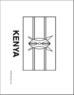 kenya coloring pages colouring book of flags sub saharan africa kenya coloring pages