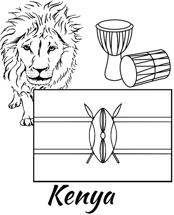 kenya coloring pages kenya coloring pages hellokidscom coloring pages kenya