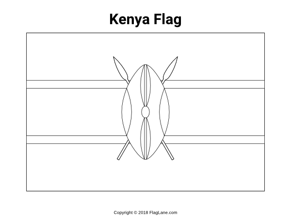 kenya coloring pages kenya flag coloring sheet pages kenya coloring