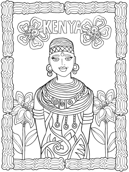 kenya coloring pages kenya flag printables for kids coloring pages kenya