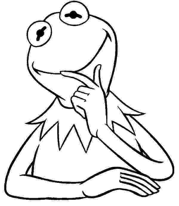kermit the frog coloring pages the muppets kermit the frog coloring page wecoloringpagecom coloring kermit the pages frog