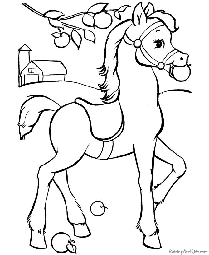kids coloring pages horses animal pictures free hd pages horses kids coloring