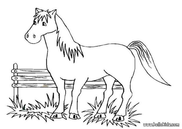 kids coloring pages horses big horse coloring pages hellokidscom kids horses pages coloring