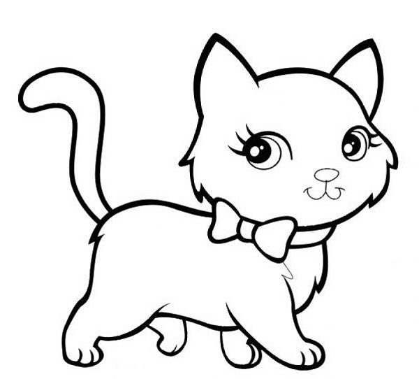 kitten color page kitten coloring pages getcoloringpagescom color kitten page