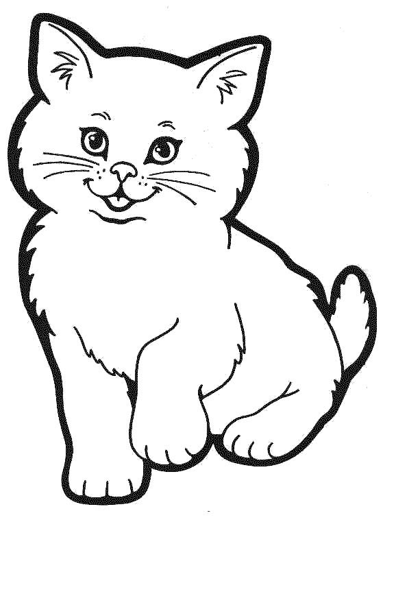 kitten color page kitten coloring pages getcoloringpagescom page color kitten