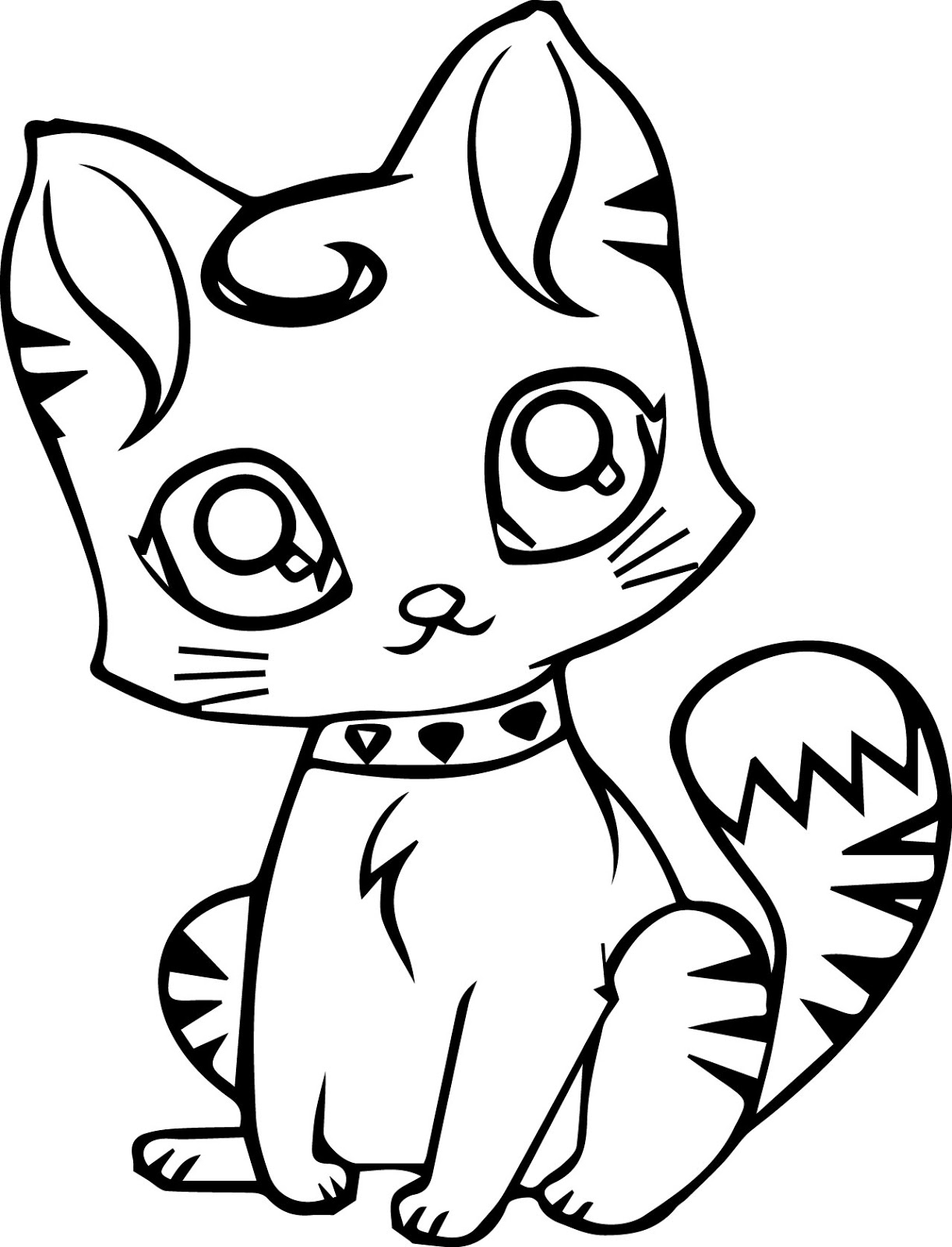 kitten color page navishta sketch sweet cute angle cats kitten page color
