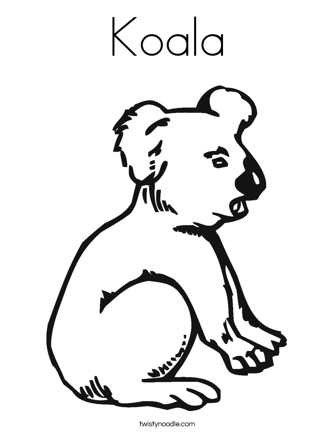 koala color free printable koala coloring pages for kids koala color