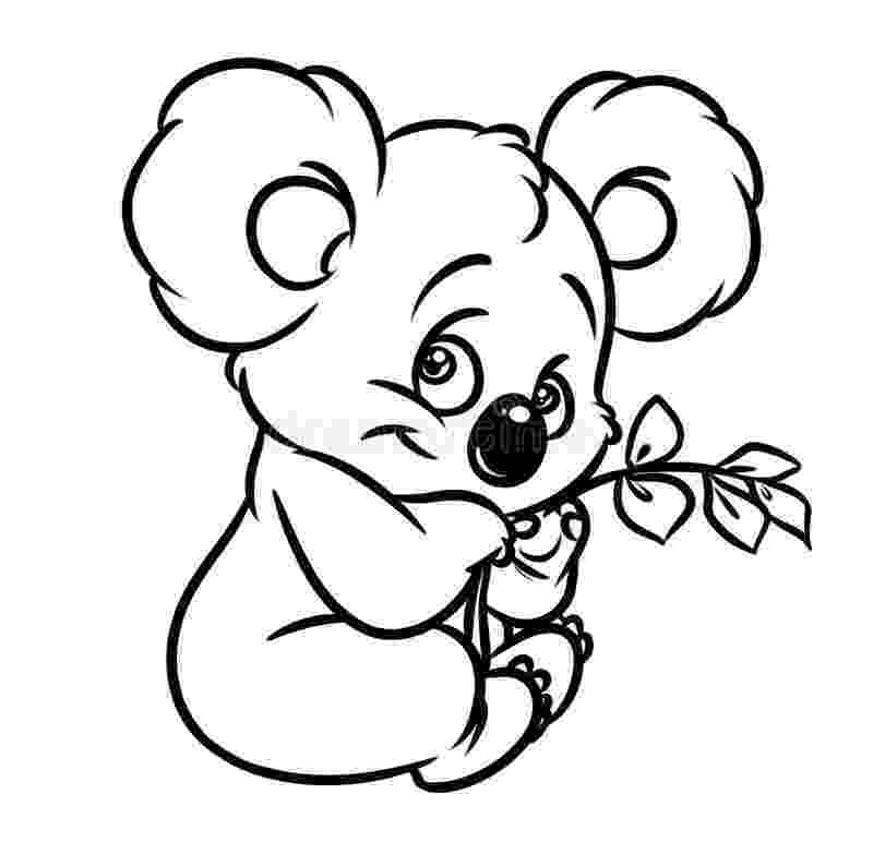 koala color koala coloring pages getcoloringpagescom koala color