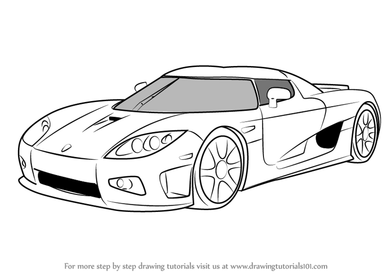 koenigsegg coloring pages learn how to draw koenigsegg ccx sports cars step by koenigsegg coloring pages