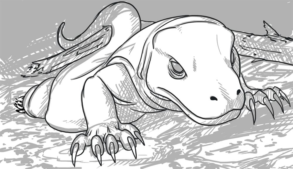 komodo dragon color komodo dragon lizard coloring pages download print color komodo dragon