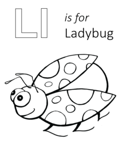 l is for ladybug letter a through l uppercase lowercase coloring ladybug is for l