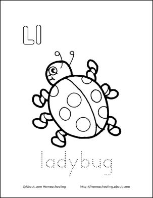 l is for ladybug letter l coloring book free printable pages ladybug ladybug is for l