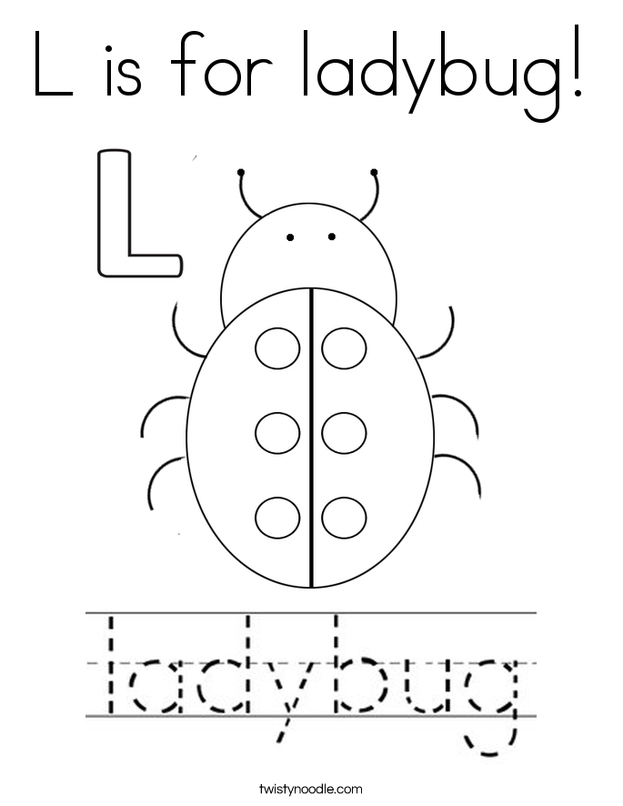 l is for ladybug letter l is for love coloring page free printable for ladybug is l