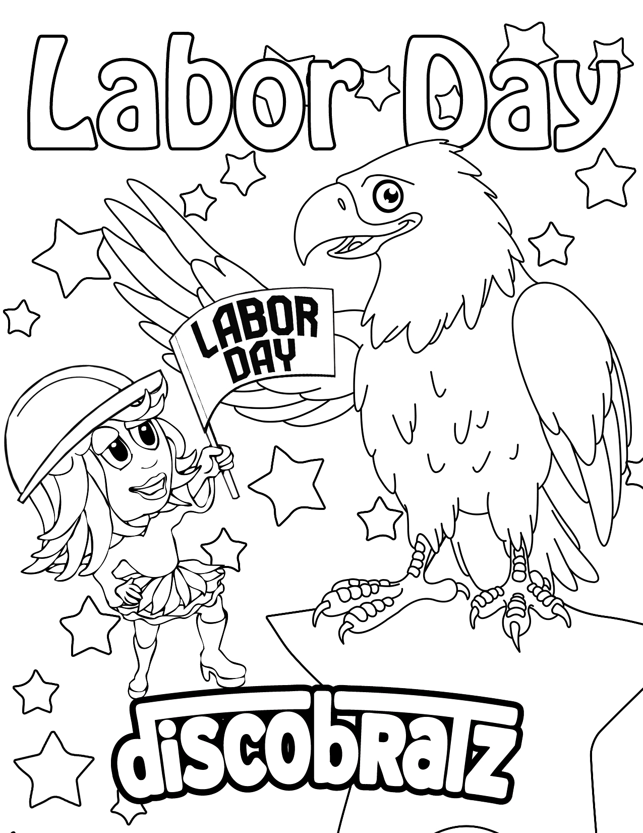 labor day coloring page discobratz celebrates the workers of the world with a page day coloring labor