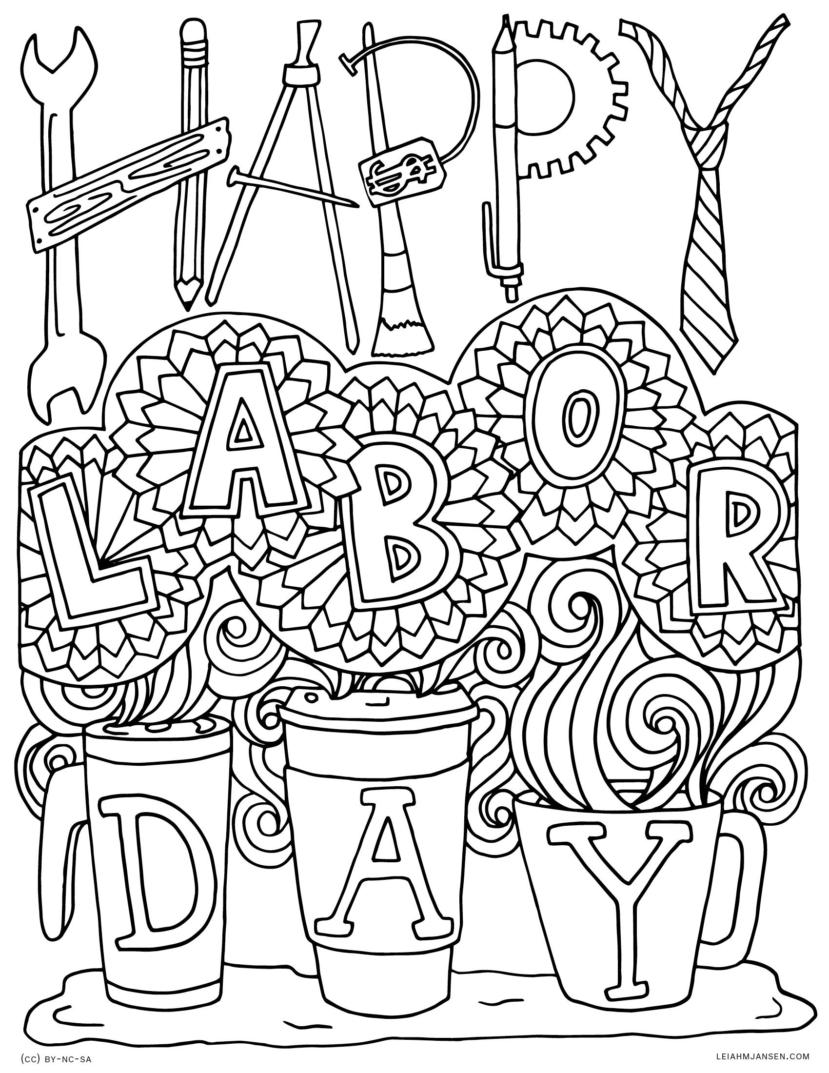 labor day coloring page happy labor day coloring page free printable coloring pages page day coloring labor