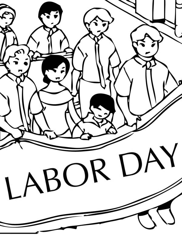labor day coloring page labor day coloring pages family holidaynetguide to labor page coloring day