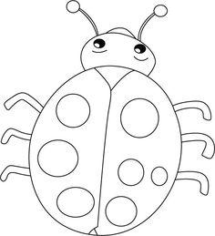 ladybug coloring best ladybug outline 6141 clipartioncom ladybug coloring