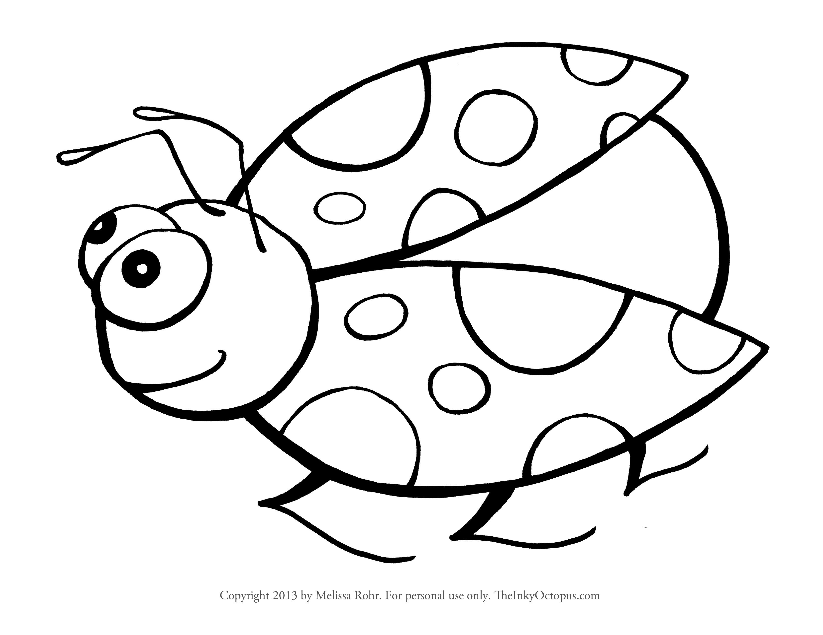 ladybug coloring printable bug coloring pages for kids cool2bkids ladybug coloring