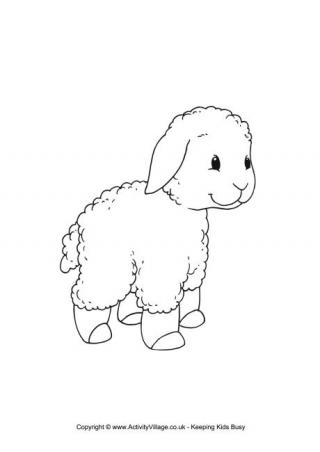 lamb coloring page baby lamb eating grass coloring page coloring sky lamb page coloring