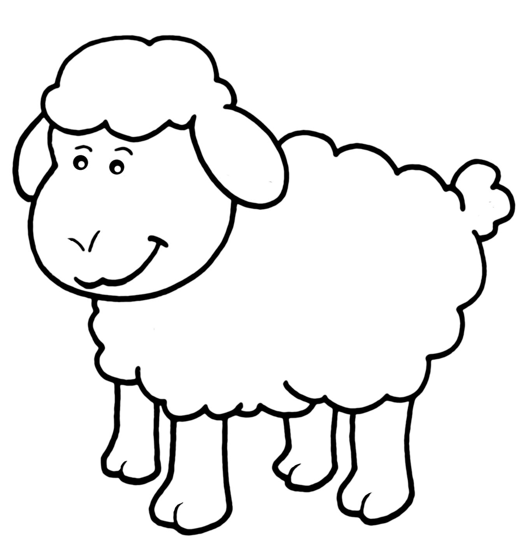 lamb coloring page cute animal sheeps coloring pages coloring page lamb