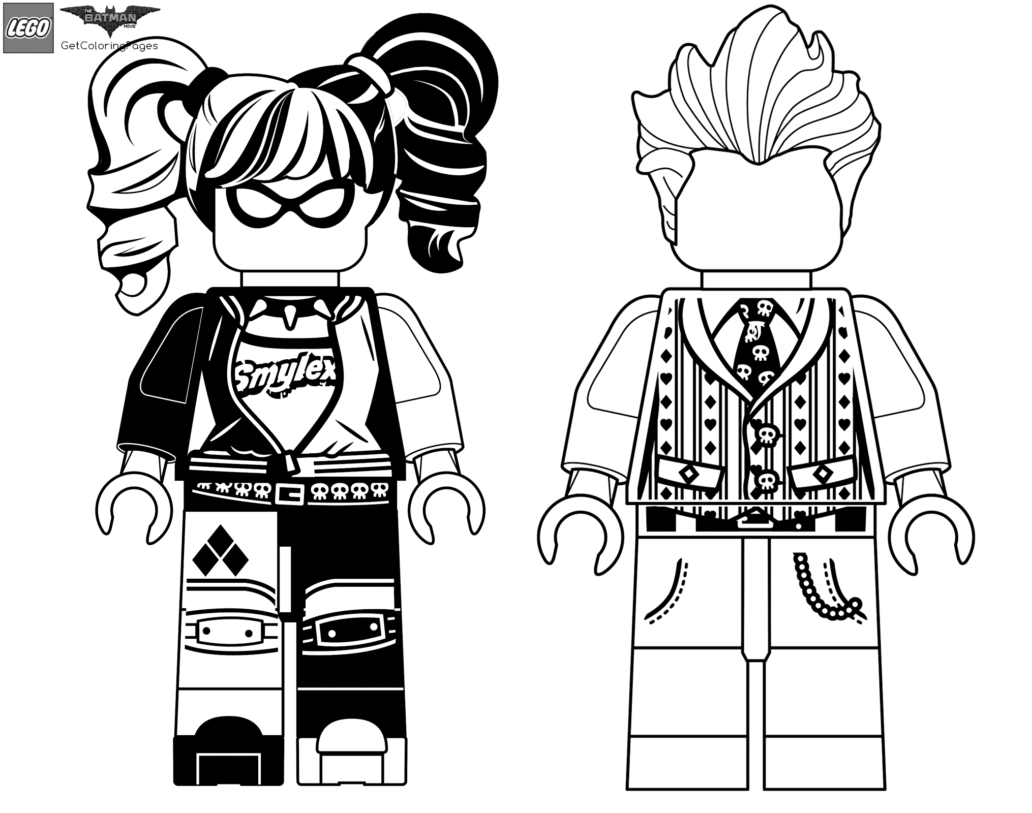 lego harley quinn harley quinn and joker coloring pages at getcoloringscom quinn harley lego
