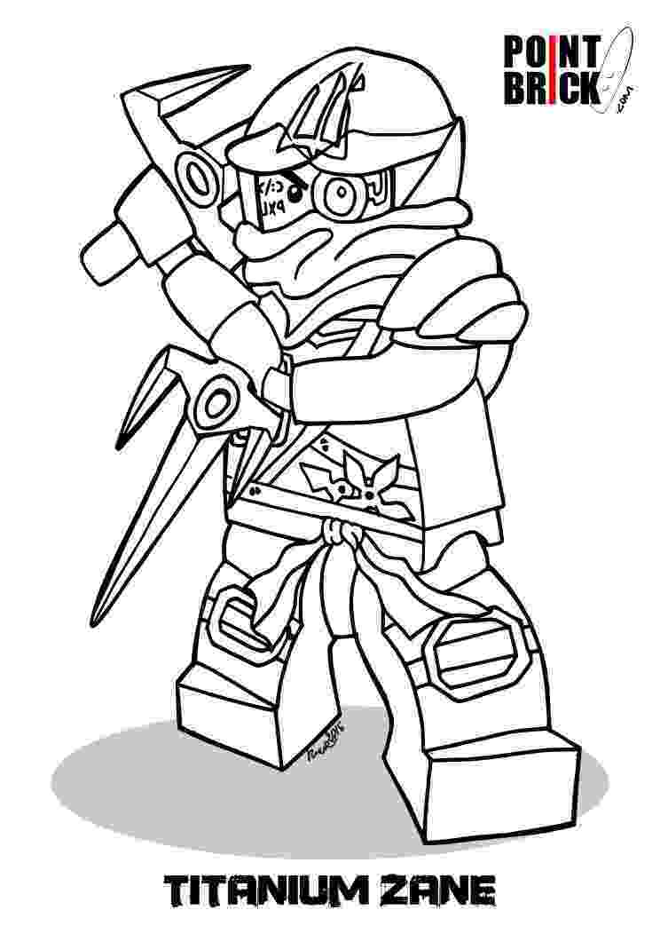 lego ninja coloring page point brick colorin pages lego ninjago titanium zane coloring page ninja lego