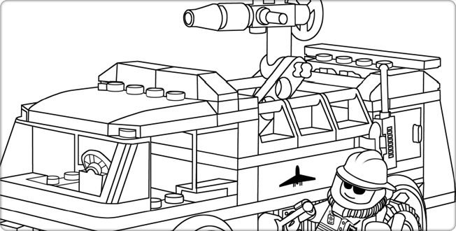 lego truck coloring pages lego fire engine coloring page for kids printable free pages lego truck coloring