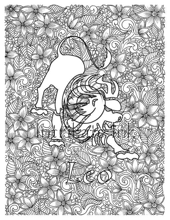 leo coloring pages lion zodiac sign vector hand drawn horoscope leo leo coloring pages