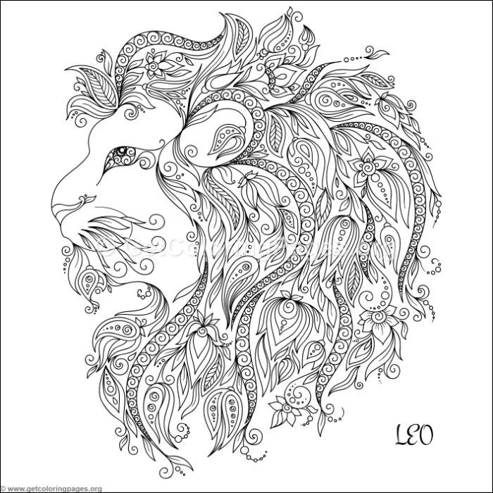leo coloring pages zodiac sign leo coloring pages getcoloringpagesorg coloring leo pages