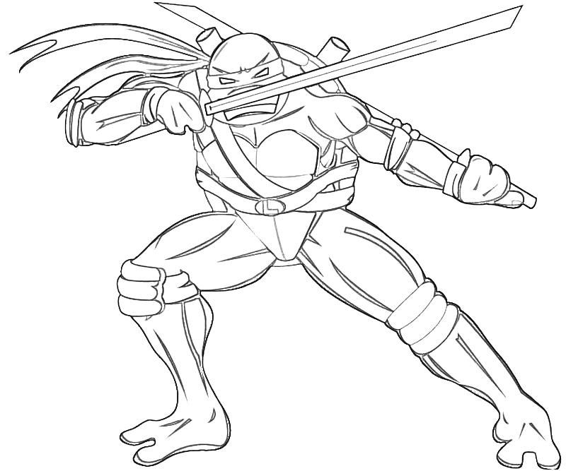 leonardo coloring pages ninja turtle two blade leonardo coloring page coloring leonardo pages
