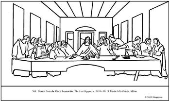 leonardo da vinci the last supper coloring page 583 best famous painting coloring pages images on coloring last supper vinci page leonardo the da