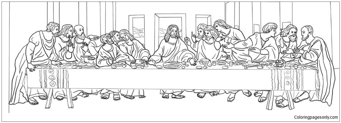 leonardo da vinci the last supper coloring page davinci last supper coloring sheet coloring pages supper coloring page leonardo da vinci the last