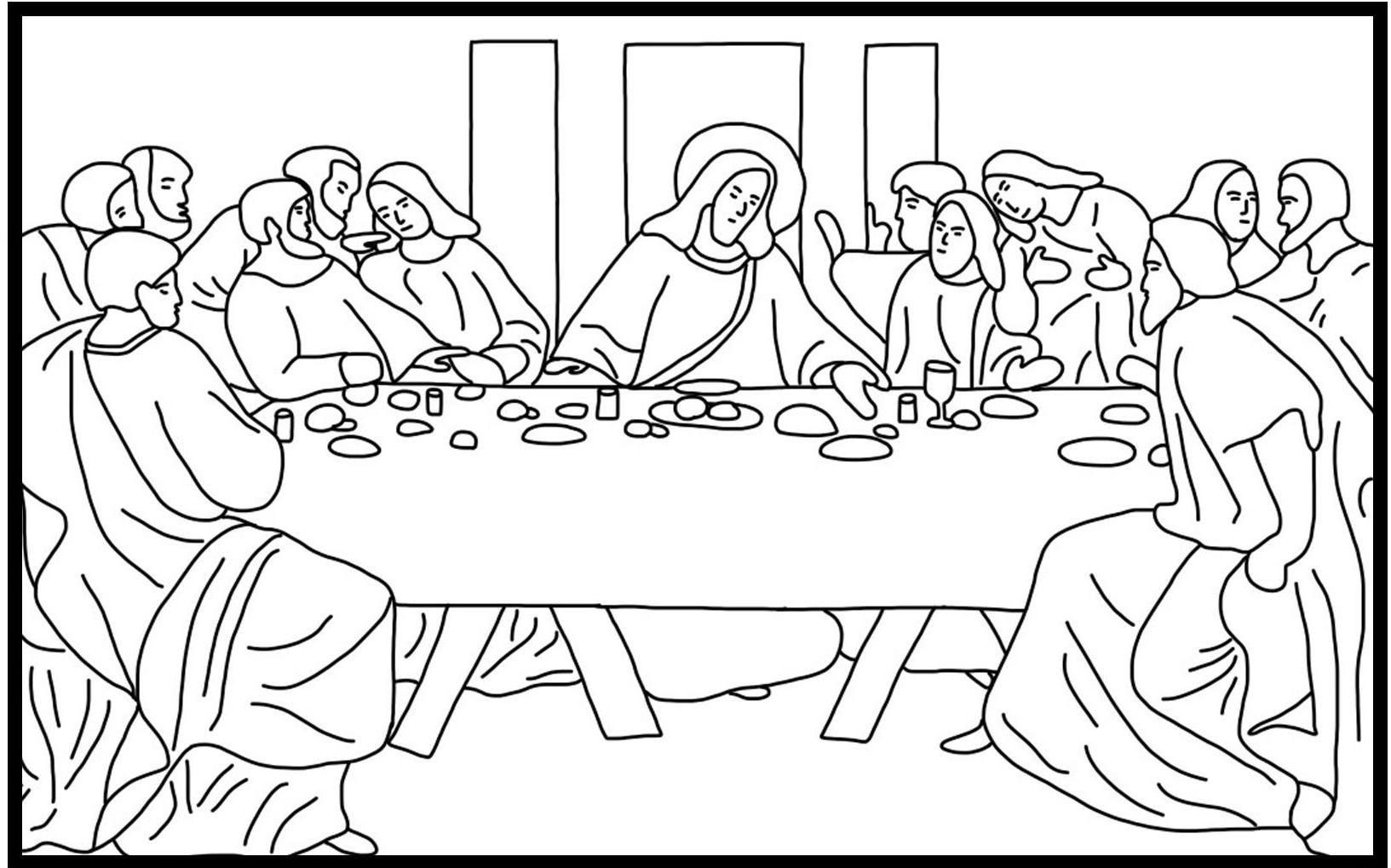 leonardo da vinci the last supper coloring page lent coloring pages coloring pages coloring pages for supper page coloring da vinci the leonardo last