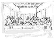 leonardo da vinci the last supper coloring page the last supper by leonardo da vinci coloring page free the page da vinci supper coloring leonardo last