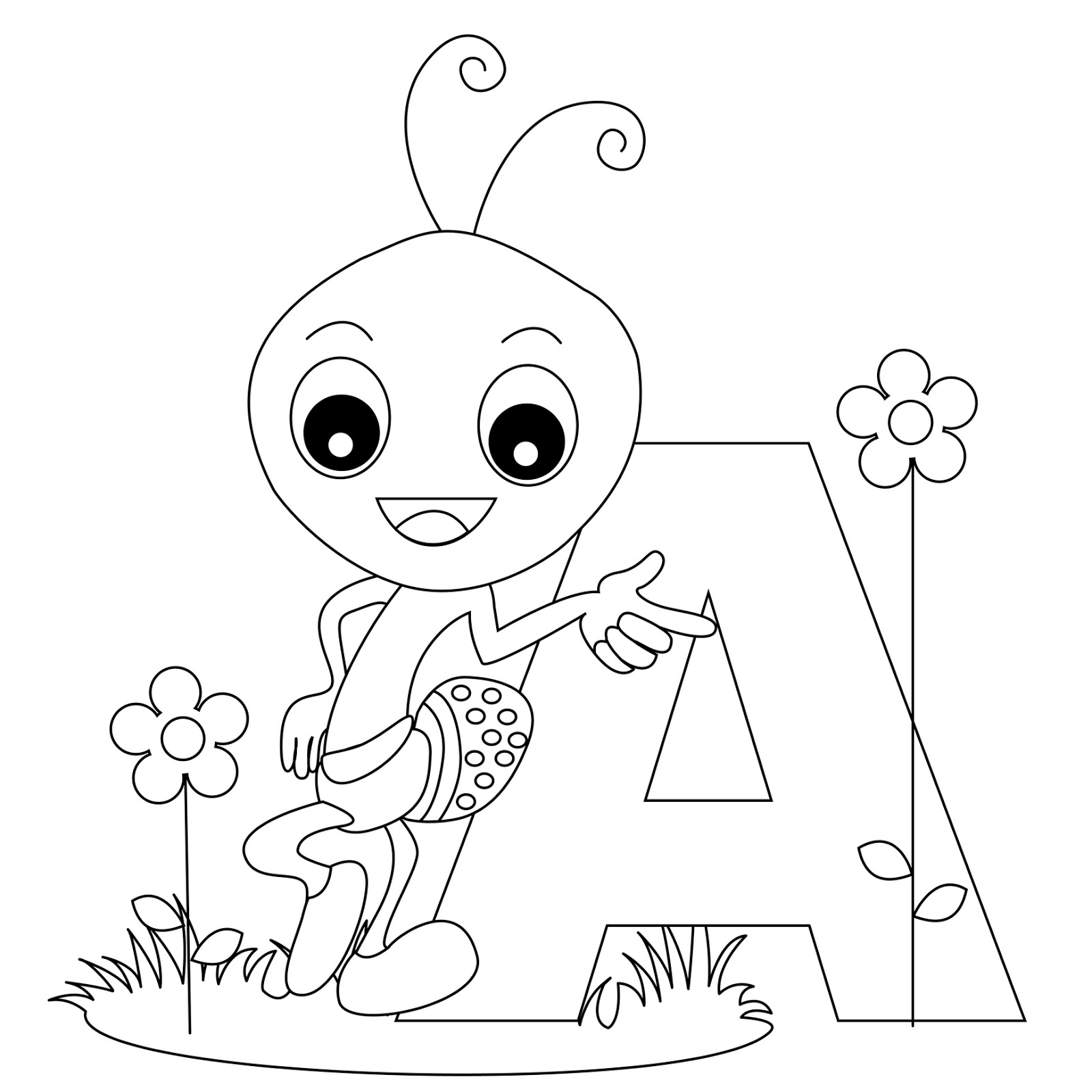letter a coloring page printable coloring pages page coloring letter a